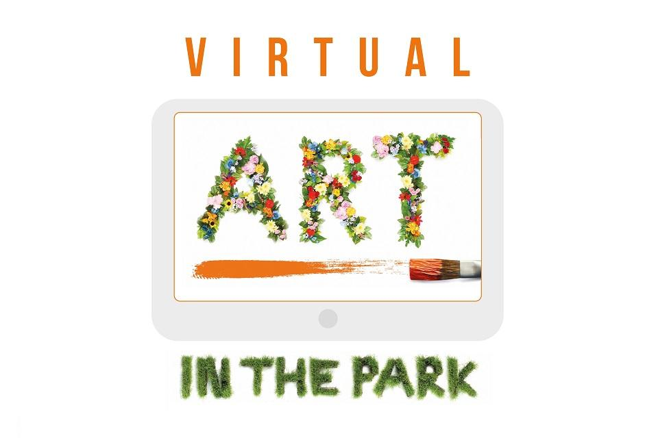 Image link to Art in the Park exhibition goes online news page.