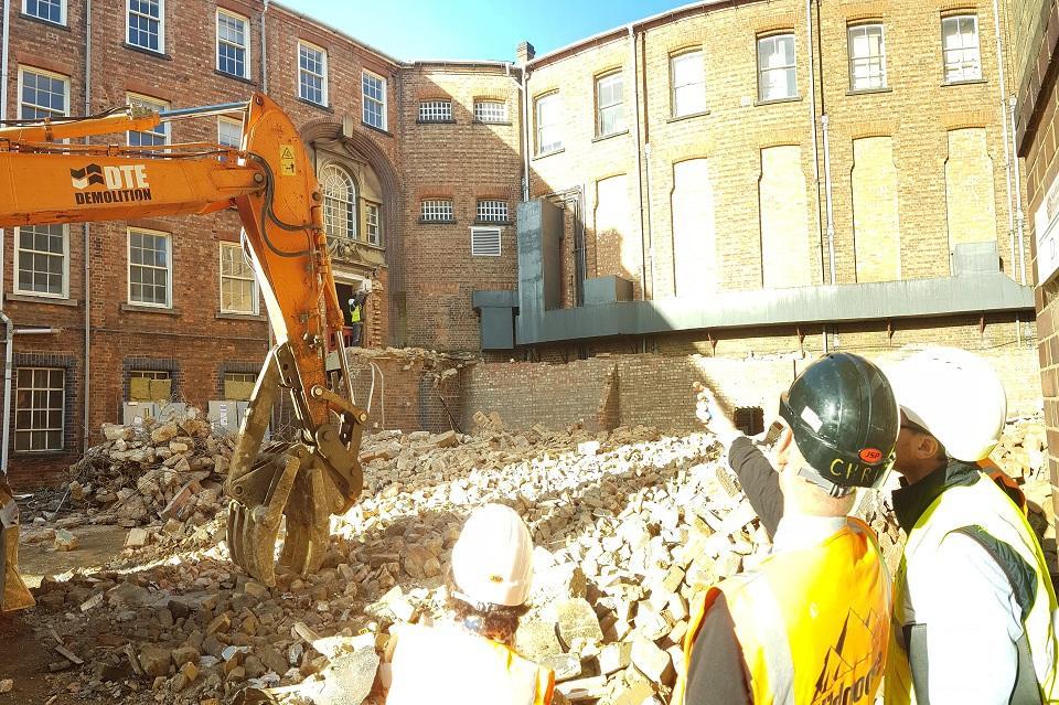 Photo of museum building site