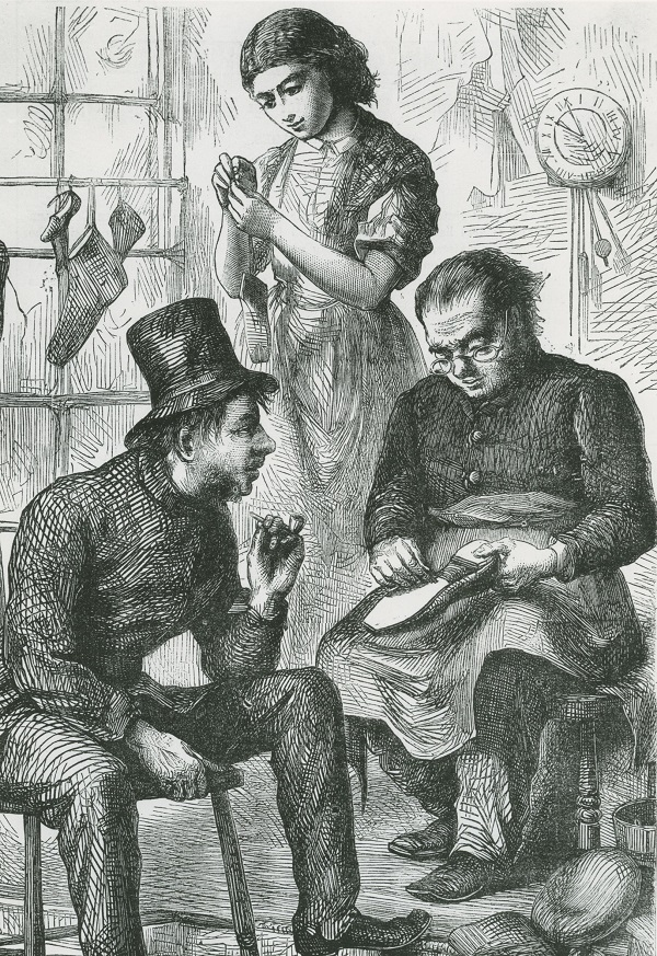 Engraving of The Northampton Shoemaker, 1966