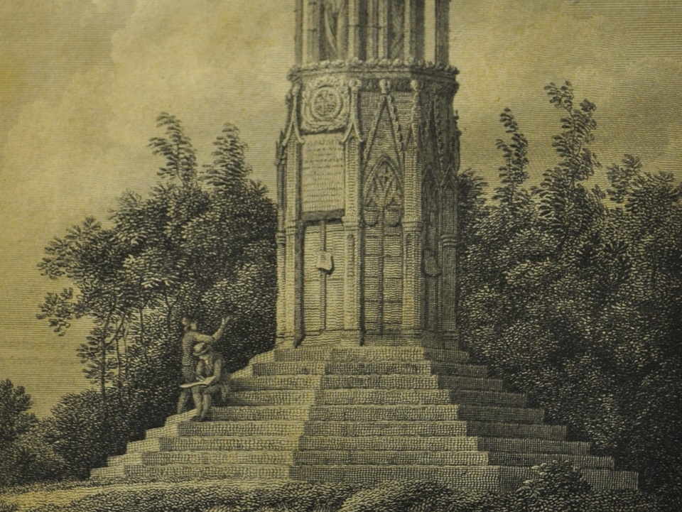 image for The Queen's Cross Northampton engraved by J. Greig