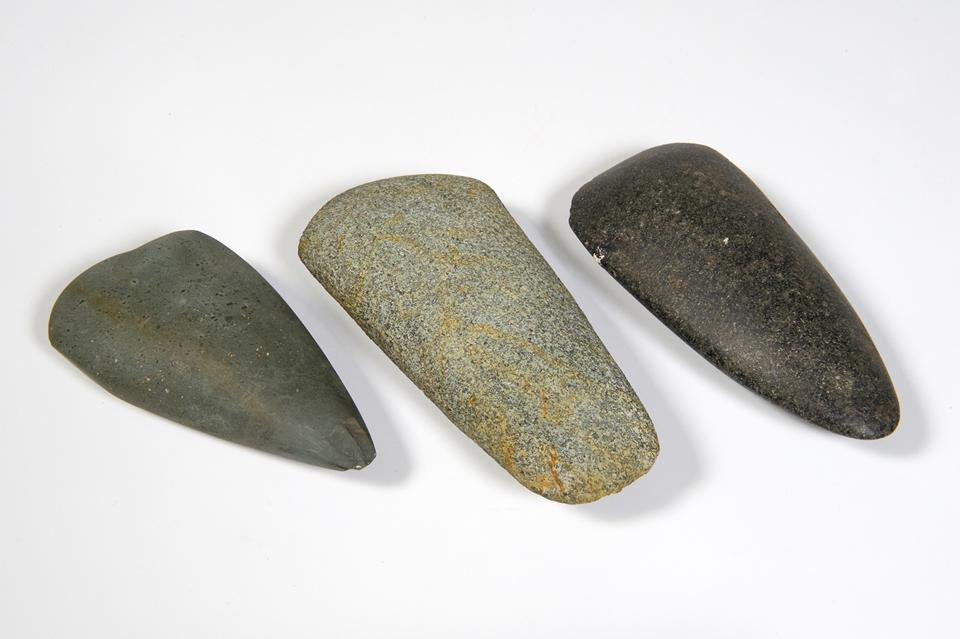 Three neolithic axes